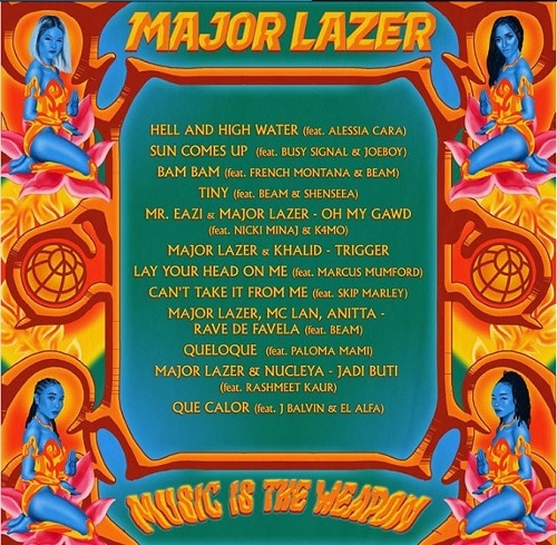 major lazer music is the weapon track list